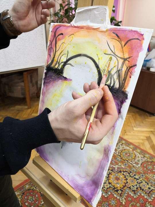 Мастер-класс по живописи от молодых магаданских художников