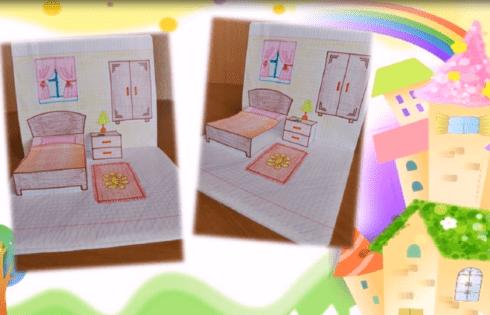 Мастер-класс «Кукольный домик в тетради»